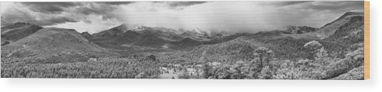 Storm On The Rockies Wood Print by G Wigler
