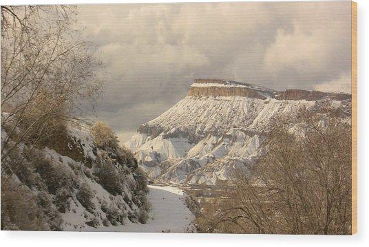 Storm Over Mt Garfield Wood Print