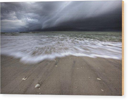 Storm Rolling Wood Print