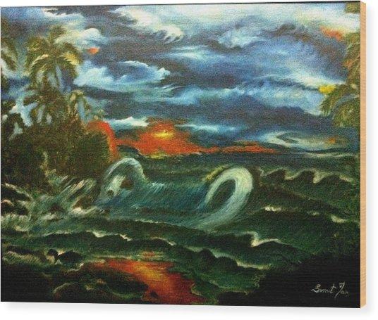 Storm Wood Print by Sumit Jain