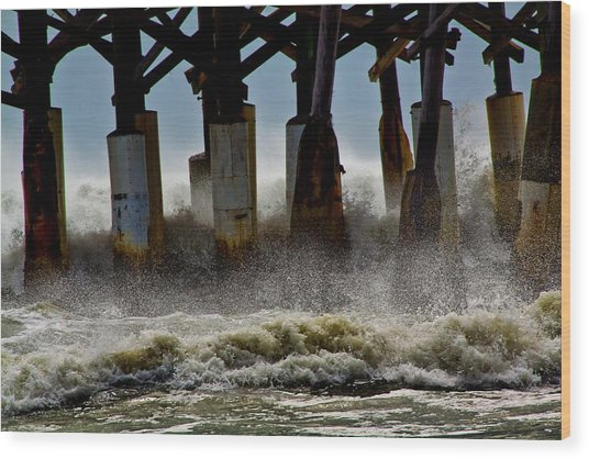 Storm Surge Wood Print