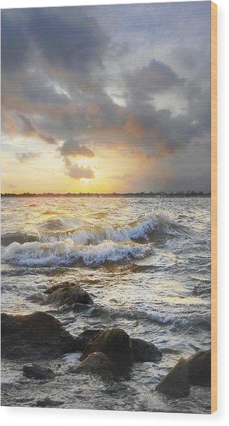 Storm Waves Wood Print