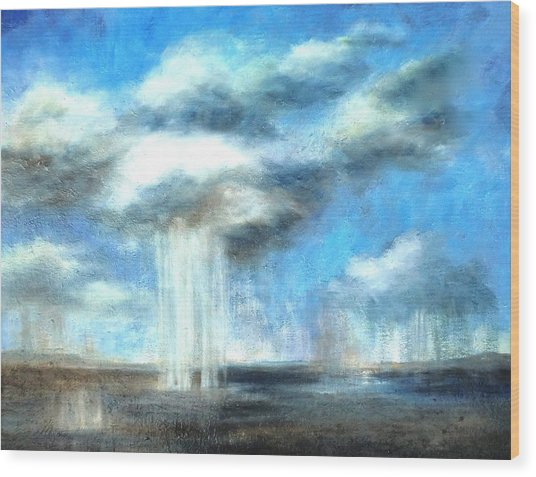 Storm's A Comin' Wood Print by Lisa Masters