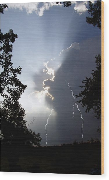 Storm's Edge Wood Print