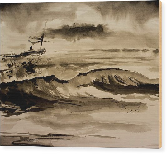 Stormy Arrival Wood Print by Scott Nelson