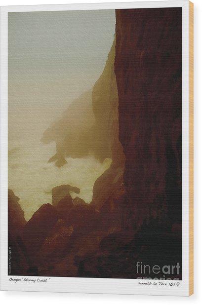 Stormy Coast Wood Print
