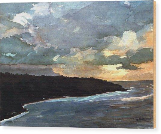 Stormy Day Wood Print by Jon Shepodd