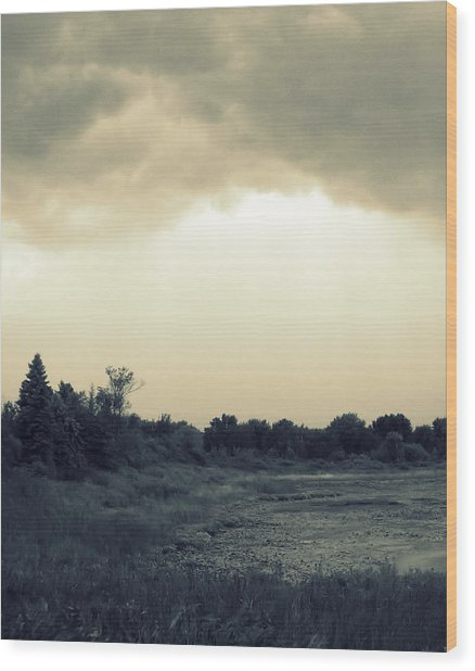 Stormy Skies Wood Print