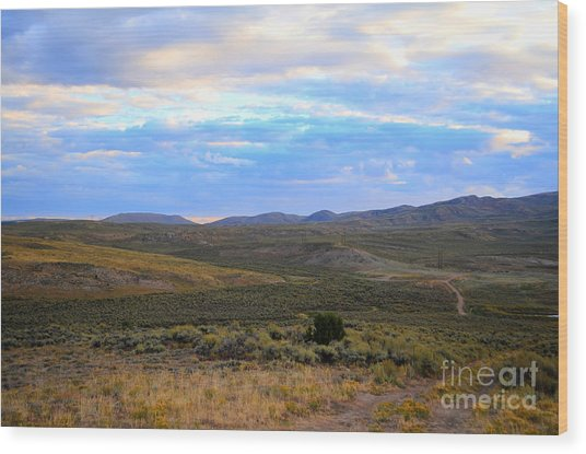 Stormy Wyoming Sunrise I Wood Print