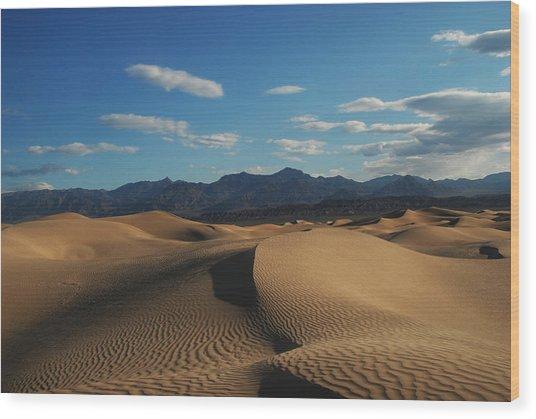 Stovepipe Wells Dunes  Wood Print