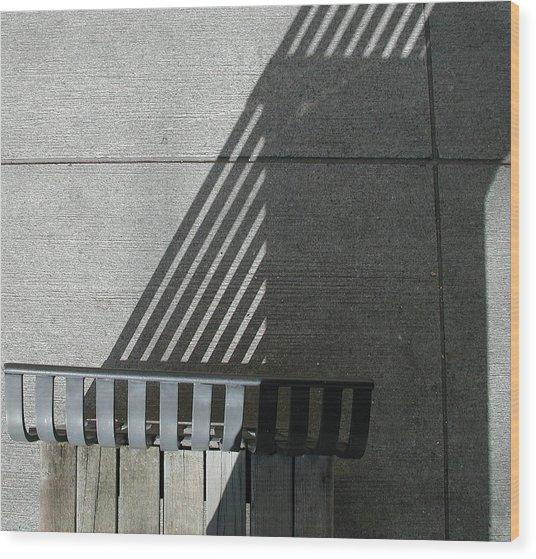 Straight Curves Wood Print
