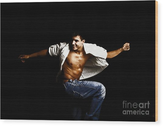 Street Dancer Wood Print