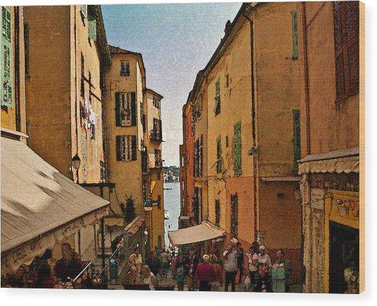 Street In Villefranche II Wood Print