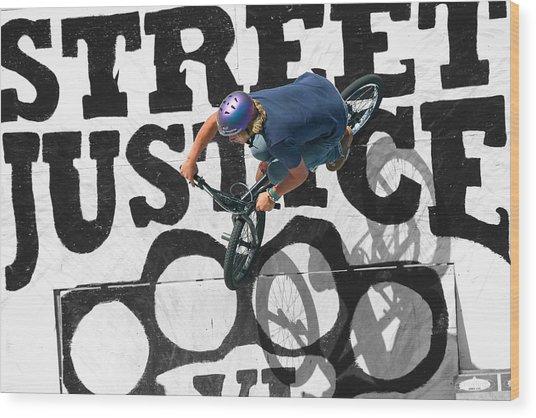 Street Justice Wood Print
