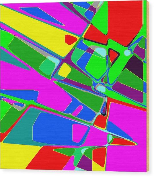 Street Map Wood Print by Jann Paxton