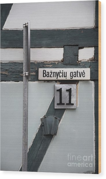 Street Plate Wood Print