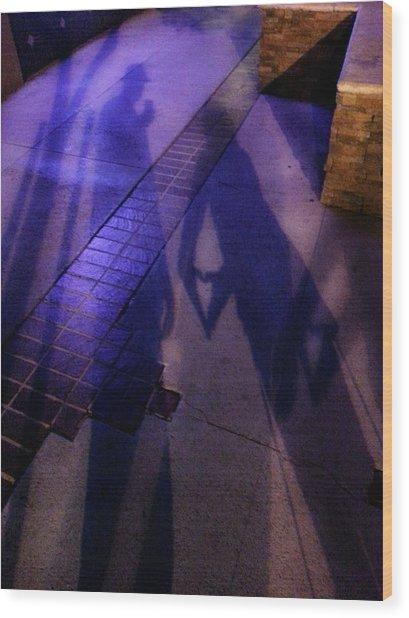 Street Shadows 004 Wood Print