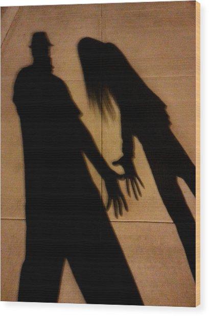 Street Shadows 006 Wood Print