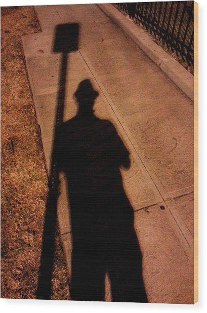 Street Shadows 008 Wood Print