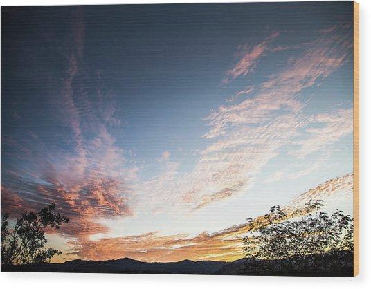 Striated Sunrise Wood Print