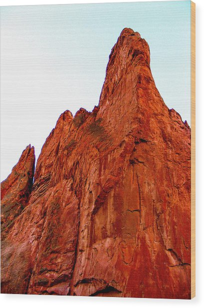 Stunning Red Rock From Garden Of The Gods Colorado Wood Print