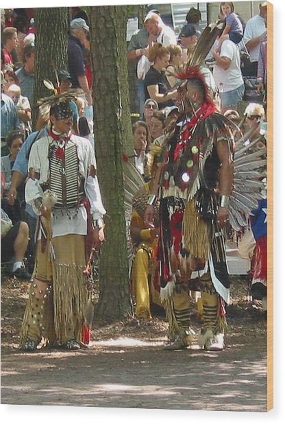 Subchiefs At Pow Wow Wood Print