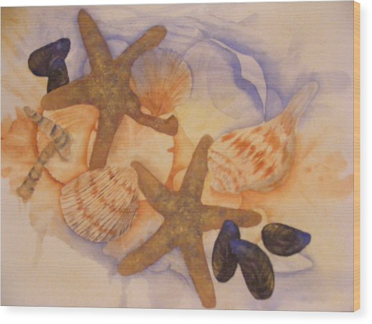 Sue's Seashells Wood Print