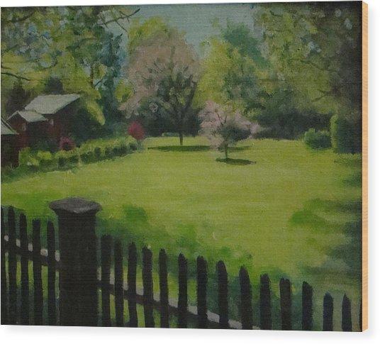 Sue's Yard Wood Print by Mark Haley