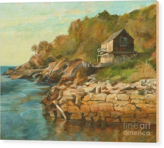 Summer Cottage Wood Print