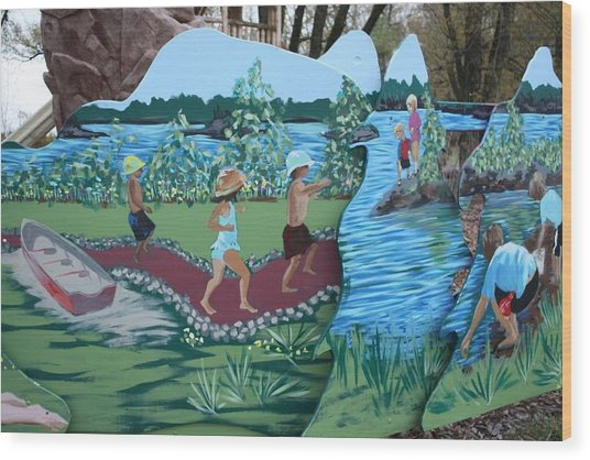 Summer Detail Wood Print