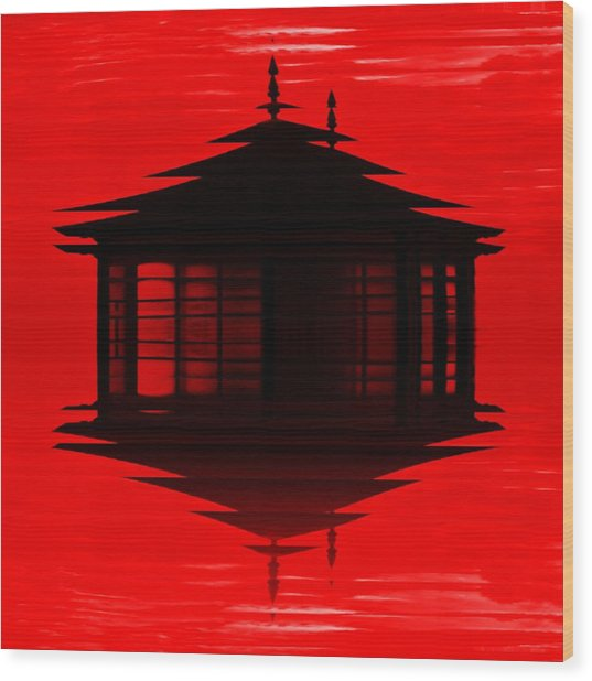 Summer House 2 Wood Print by Sharon Lisa Clarke
