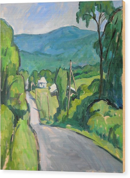 Summer In The Berkshires Wood Print