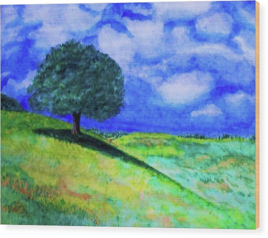 Summer Shade Wood Print by Jeanette Stewart