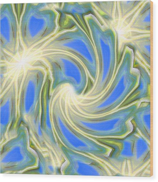 Sun Angels Wood Print