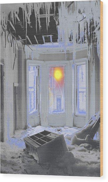 Global Freezing Wood Print