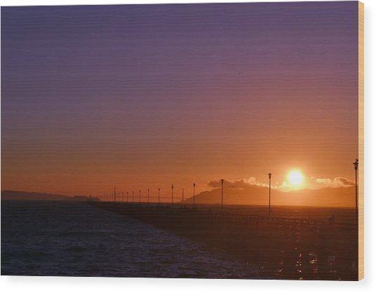 Sun Is Going Down Wood Print by Saifon Anaya