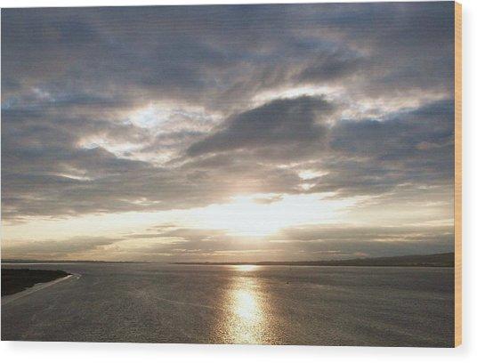 Sun Set On The Humber Wood Print