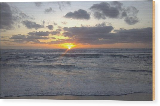 Sun Setting In Socal Wood Print by Anthony Anderson
