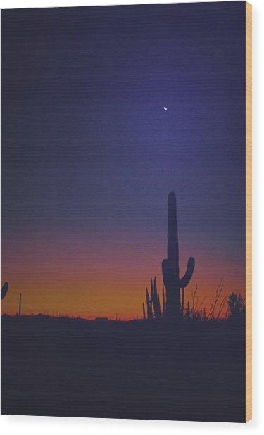 Sundown On The Desert 7746 Wood Print by J D  Whaley