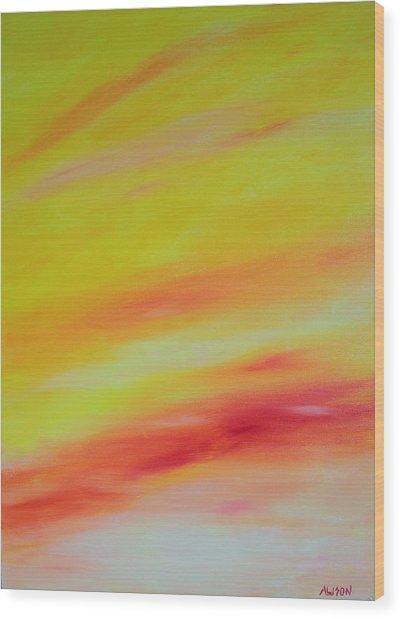 Sundunes Wood Print by Tony Allison