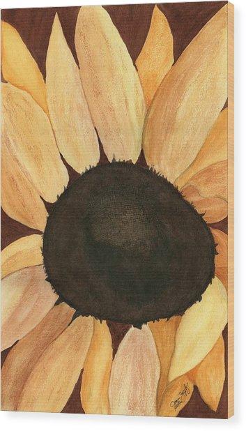 Sunflower Wood Print by Joan Zepf