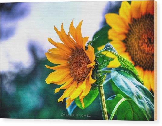 Sunflower Smile Wood Print by Sarai Rachel