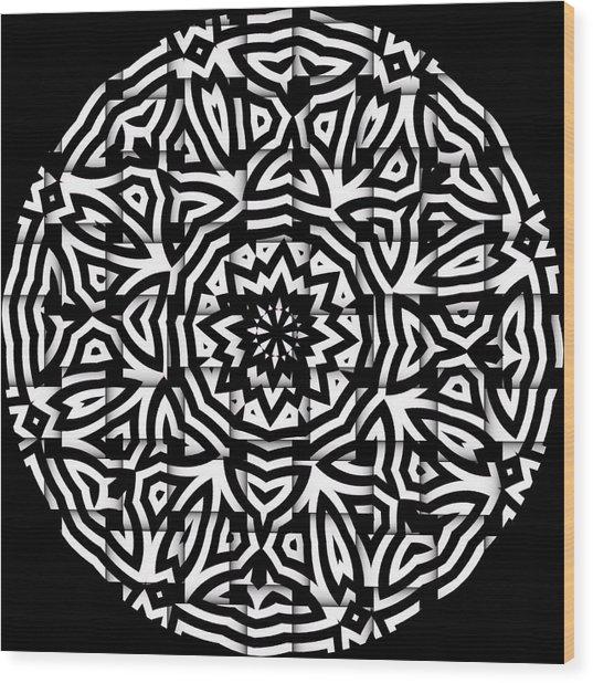 Wood Print featuring the digital art Sunflower by Visual Artist Frank Bonilla