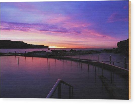 Sunrise - Malabar Baths Wood Print