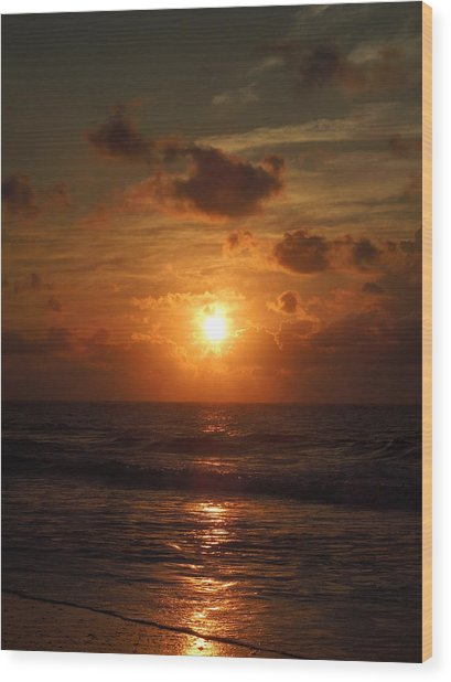 Sunrise At Myrtle Beach South Carolina Wood Print