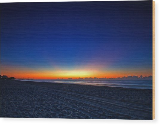 Sunrise At The Beach IIi Wood Print