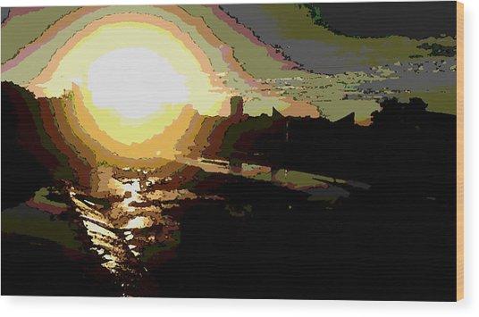 Sunrise Wood Print by David Alvarez