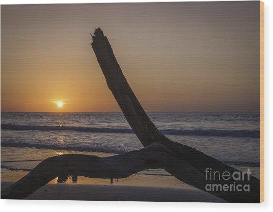 Sunrise Hunting Island Wood Print
