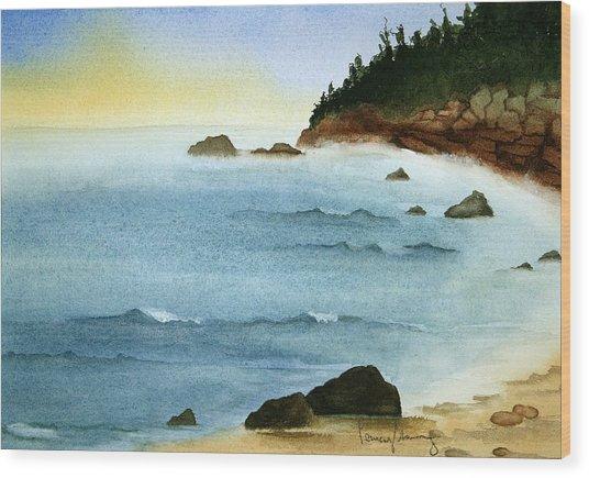Sunrise On Big Bay Wood Print