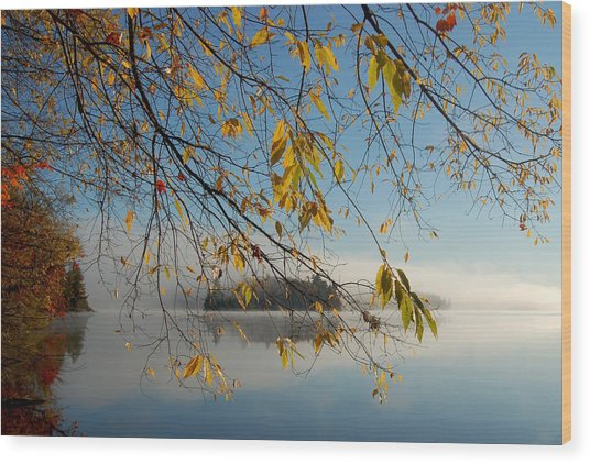 Sunrise On Low's Lake Wood Print